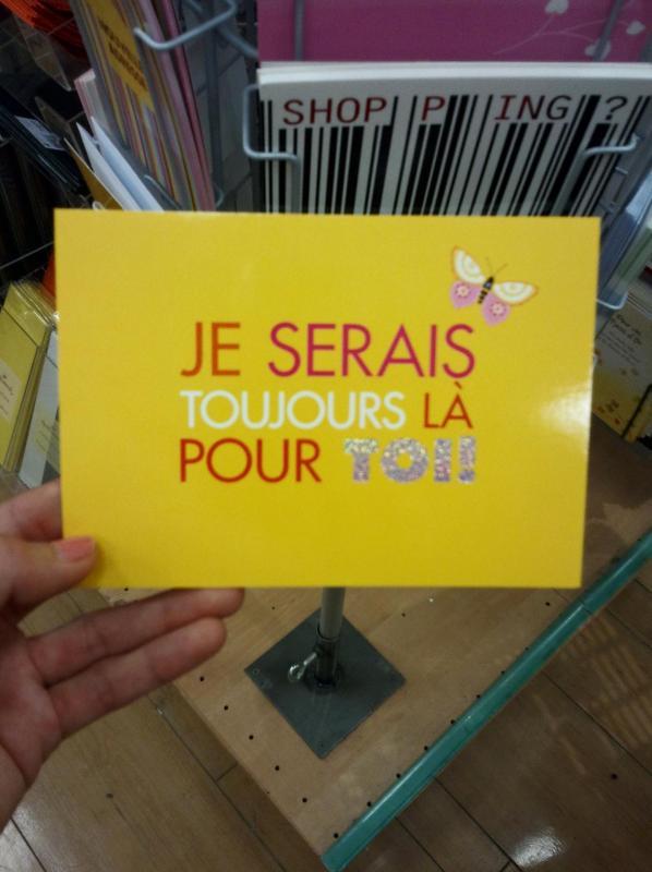 Carte postale faute d orthographe je serais toujours la pour toi